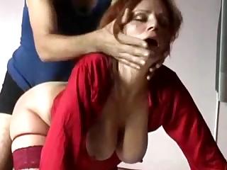 Домашний русский секс раком с грудастой красивой супругой на кровати